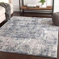 "Shonda Blue & Grey Traditional Oriental Area Rug - 7'10"" x 10'3"""