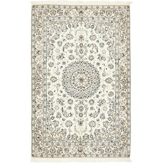 Hand Knotted Nain Silk & Wool Area Rug - 5' 4 x 8' 3