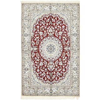 Hand Knotted Nain Silk & Wool Area Rug - 5' 1 x 8'