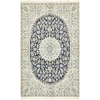Hand Knotted Nain Silk & Wool Area Rug - 5' 2 x 8' 3