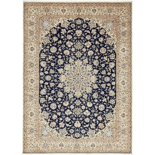 Shop Hand Knotted Nain Silk Wool Area Rug 9 11 X 13 10 On