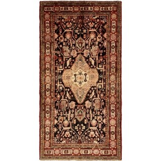 Hand Knotted Nahavand Semi Antique Wool Runner Rug - 5' 6 x 10' 8