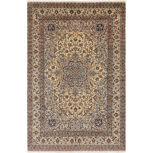 Hand Knotted Nain Silk & Wool Area Rug - 11' x 17'