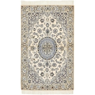 Hand Knotted Nain Silk & Wool Area Rug - 2' 11 x 4' 9