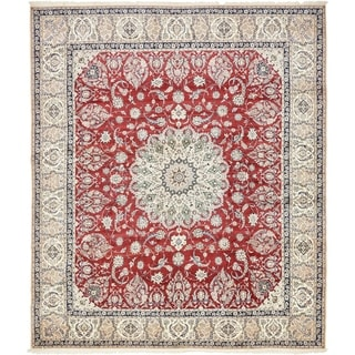 Hand Knotted Nain Silk & Wool Area Rug - 11' 6 x 13' 3