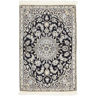 Hand Knotted Nain Silk & Wool Area Rug - 3' x 4' 5