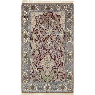 Hand Knotted Nain Silk & Wool Area Rug - 5' 3 x 9' 5