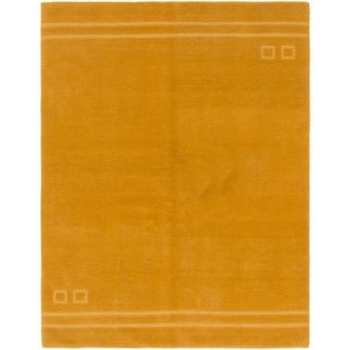 Hand Knotted Nepal Wool Area Rug - 5' x 6' 7