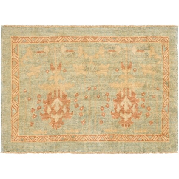 Shop Hand Knotted Oushak Wool Area Rug 3 2 X 4 6 On Sale