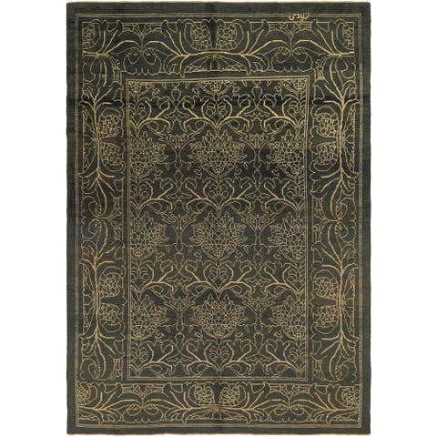 Hand Knotted Oushak Wool Area Rug - 10' 9 x 15' 8