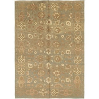 Hand Knotted Oushak Wool Area Rug - 11' 10 x 17'