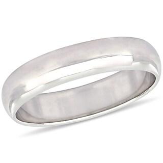 Miadora 10k White Gold Men's Wedding Band (5 mm)