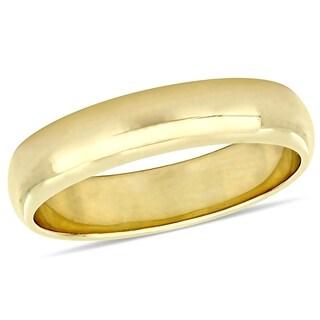 Miadora 10k Yellow Gold Men's Wedding Band (5 mm)