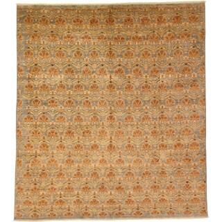 Hand Knotted Peshawar Ziegler Wool Area Rug - 10' 10 x 12' 3
