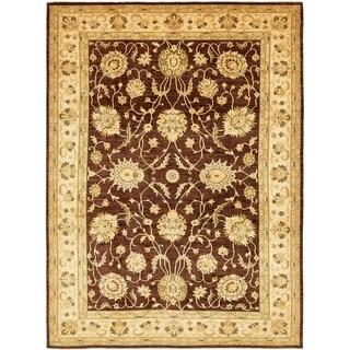 Hand Knotted Peshawar Ziegler Wool Area Rug - 9' 9 x 14'