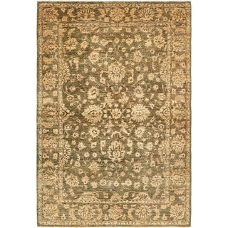 Hand Knotted Peshawar Ziegler Wool Area Rug - 5' 3 x 7' 9