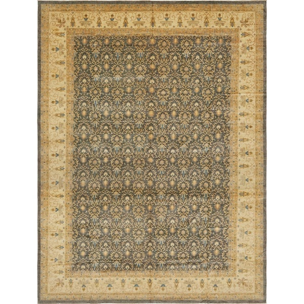 Hand Knotted Peshawar Ziegler Wool Area Rug - 16' 7 x 22' 3. Opens flyout.