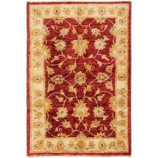 Hand Knotted Peshawar Ziegler Wool Area Rug - 2' x 3'