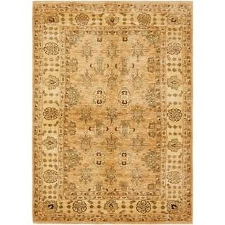 Hand Knotted Peshawar Ziegler Wool Area Rug - 6' x 8' 7