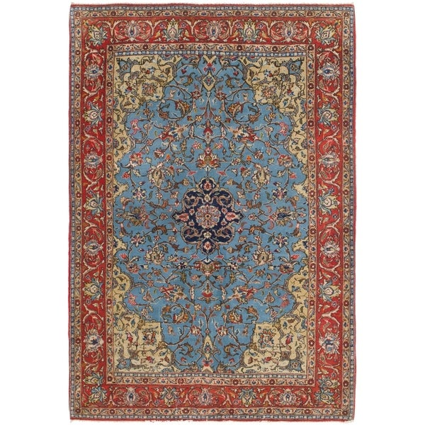 5 X 6 Vintage Kazak Persian Oriental Wool Hand Knotted: Shop Hand Knotted Qom Antique Silk & Wool Area Rug