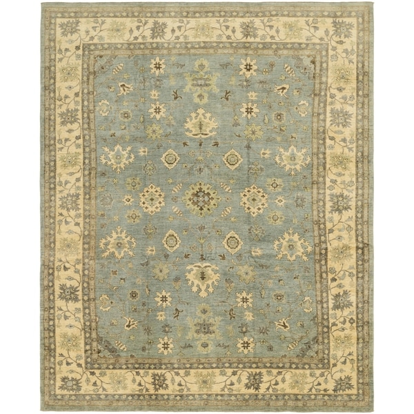 Shop Hand Knotted Peshawar Ziegler Wool Area Rug 12 X 14 8 On