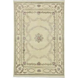 Hand Knotted Royal Tabriz Silk & Wool Area Rug - 6' 6 x 9' 8