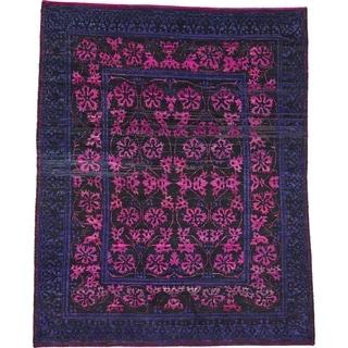 Hand Knotted Sari Silk Area Rug - 7' 7 x 9' 6
