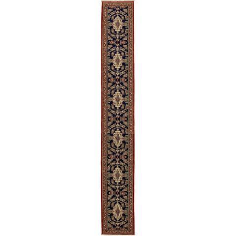 Hand Knotted Qom Silk & Wool Runner Rug - 2' 11 x 20' 8