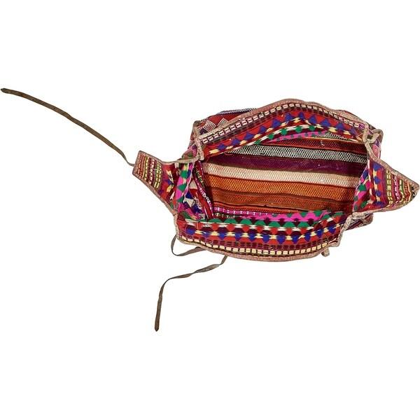 Hand Woven Saddle Bag Wool Area Rug - 6' x 8' 5