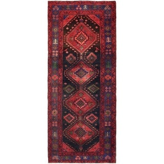 Hand Knotted Sarab Semi Antique Wool Runner Rug - 4' x 9' 9