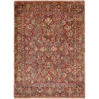 Hand Knotted Sarough Wool Area Rug - 8' 9 x 12'