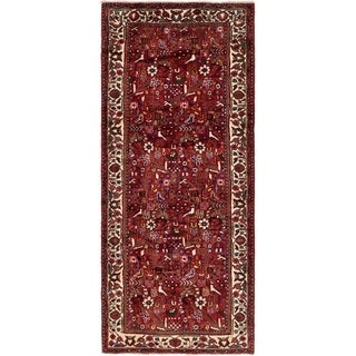 Hand Knotted Roodbar Semi Antique Wool Runner Rug - 3' 10 x 9' 8
