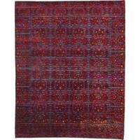 Hand Knotted Sari Silk Area Rug - 7' 8 x 9' 5