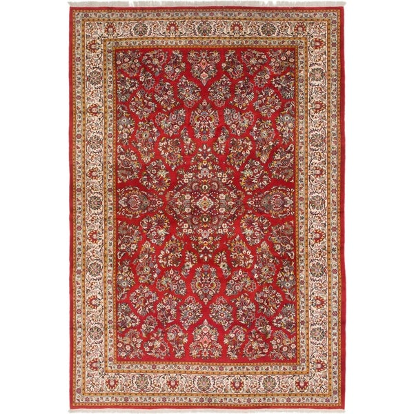 Hand Knotted Sarough Wool Area Rug - 8' 2 x 11' 9
