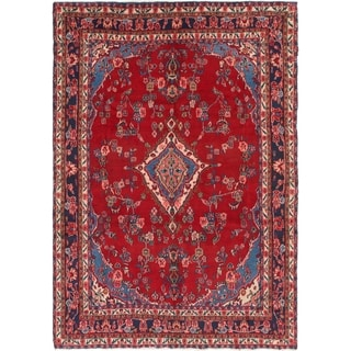 Hand Knotted Shahrbaft Semi Antique Wool Area Rug - 6' 8 x 9' 9