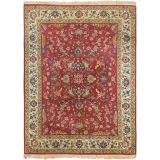 Hand Knotted Sarough Antique Wool Area Rug - 8' 3 x 11' 2
