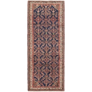 Hand Knotted Shahsavand Wool Runner Rug - 3' 6 x 9' 9