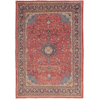Hand Knotted Sarough Semi Antique Wool Area Rug - 8' 2 x 11' 6