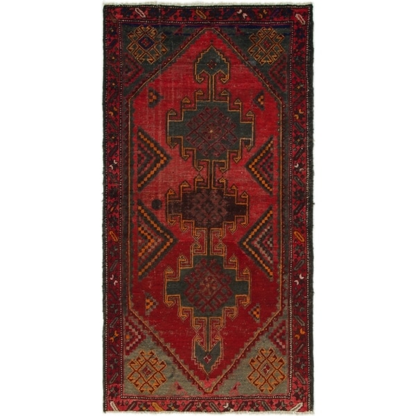 Hand Knotted Shiraz Semi Antique Wool Area Rug - 3' 4 x 6' 4