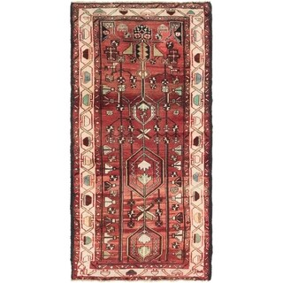 Hand Knotted Saveh Semi Antique Wool Runner Rug - 3' 3 x 6' 7