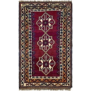 Hand Knotted Shiraz Wool Area Rug - 4' 3 x 7'