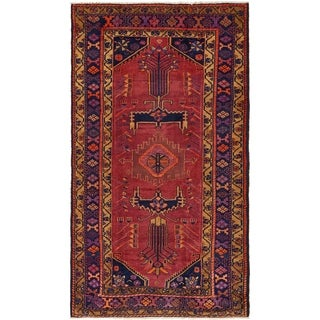 Hand Knotted Shiraz Semi Antique Wool Runner Rug - 5' 5 x 9' 7