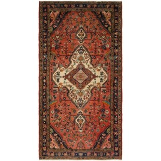 Hand Knotted Shahrbaft Semi Antique Wool Runner Rug - 5' 3 x 10' 7