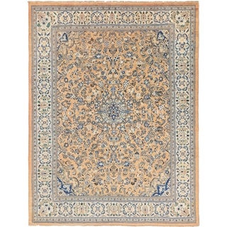 Hand Knotted Sarough Semi Antique Wool Area Rug - 10' 7 x 14'