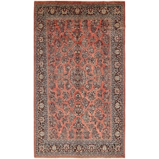 Hand Knotted Sarough Semi Antique Wool Area Rug - 9' x 15' 8