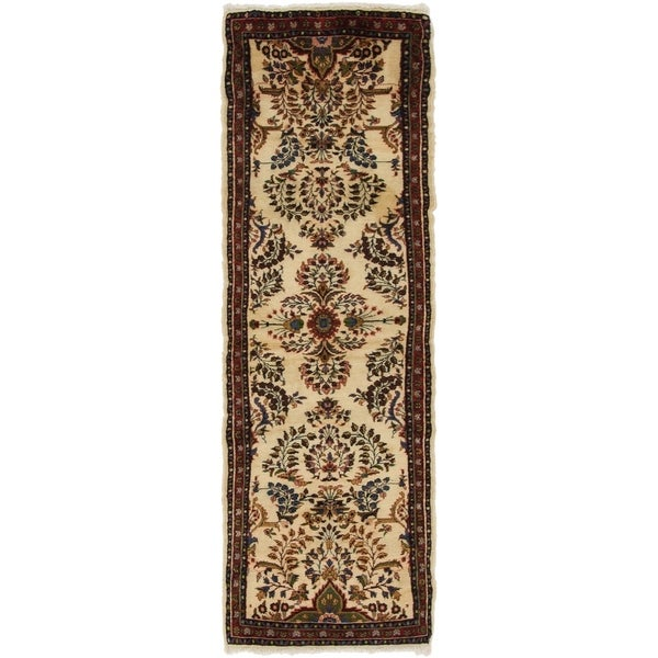 Hand Knotted Shahrbaft Semi Antique Wool Runner Rug - 2' 7 x 8' 5