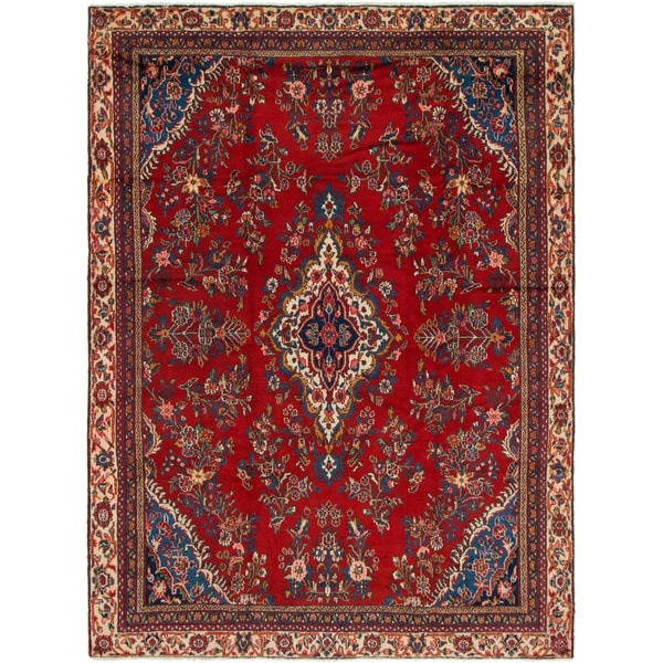 Hand Knotted Shahrbaft Semi Antique Wool Area Rug - 8' 2 x 11'