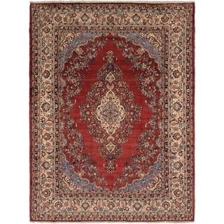 Hand Knotted Shahrbaft Semi Antique Wool Area Rug - 8' 10 x 11' 8