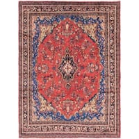 Hand Knotted Shahrbaft Semi Antique Wool Area Rug - 8' 7 x 11' 6