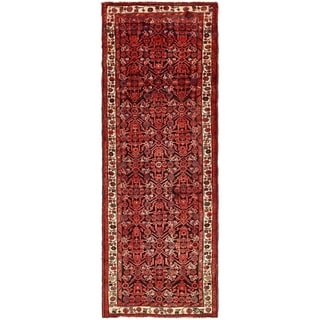 Hand Knotted Shahsavand Semi Antique Wool Runner Rug - 3' 8 x 10'